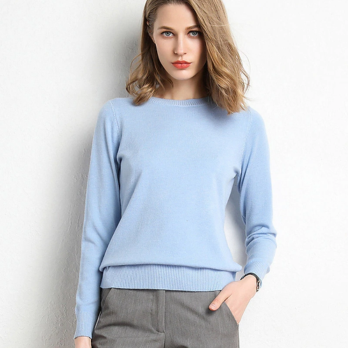 Classic  Sweater/Pullover with Crew Neck in colours