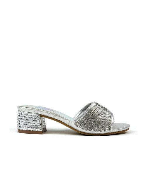 Classic Silver Evening Sandal