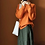 Thumbnail: New High-Collar Cashmere MIX Sweater Loose Fit Pullover:orange