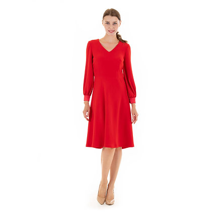 Classic work dress in red