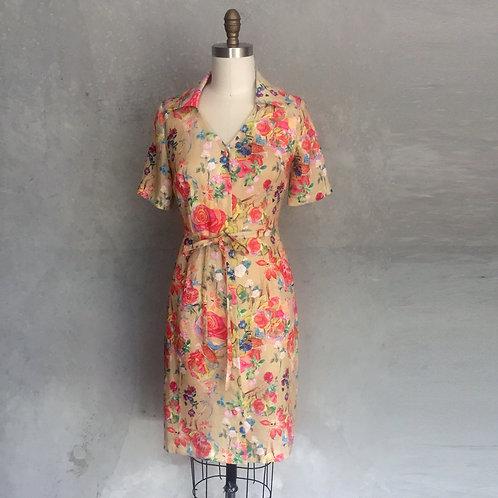 Italian Shirtdress-floral