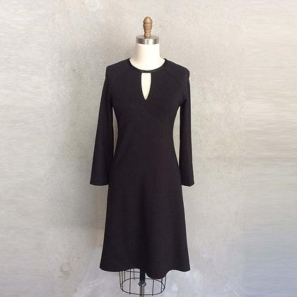 Sandra dress in Black Ponte