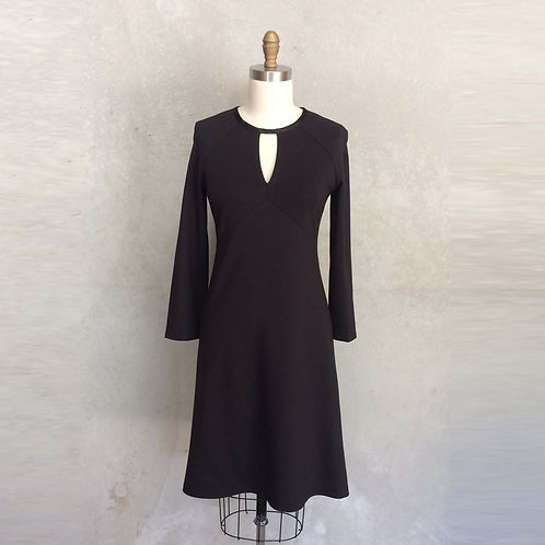 Sandra dress in Black Ponte
