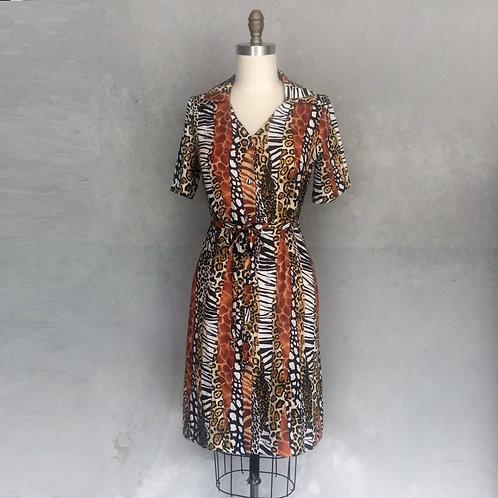 Italian Shirtdress-animal print