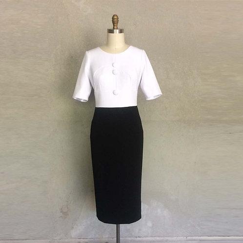 Michelina dress:black and white