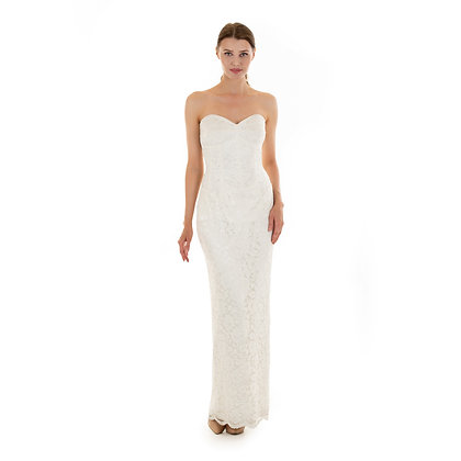 Madeline Lace strapless Gown
