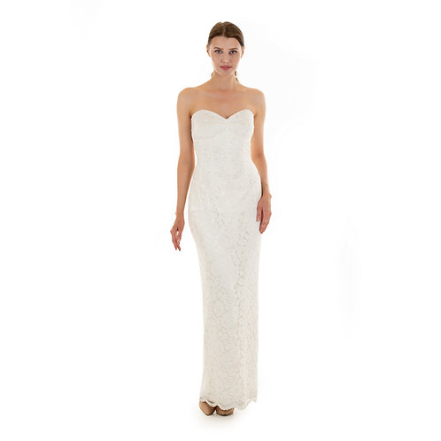 Madeline Dress:Ivory lace