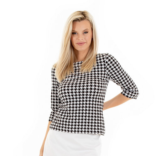 Bateaux top:houndstooth