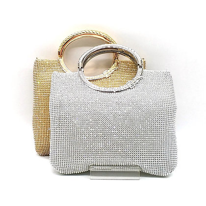 Crystal Diamond Bridal  Evening Clutch