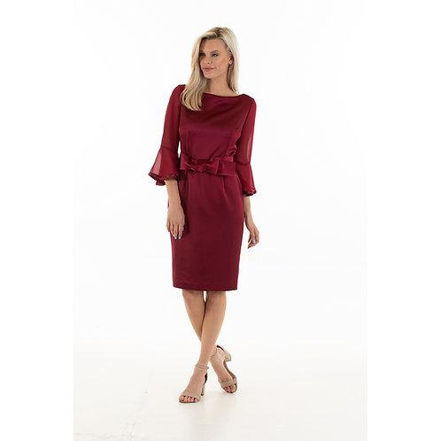 Wine Vivian Dress