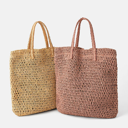 Casual Straw Bags Large Tote Rattan for shopping or Beach