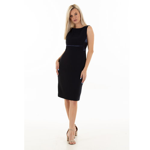 Classic Sheath Dress:navy