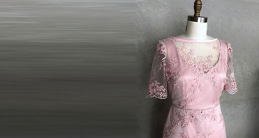 New Pink beaded Amy Gown