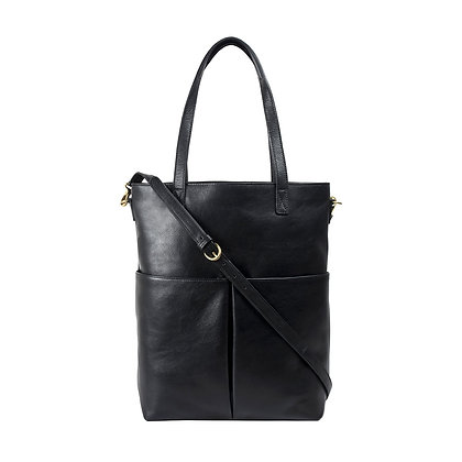 Large Leather Tote With Sling Strap