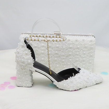Co-ordinated evening Bag/clutch and evening Shoes; available in 18 colours