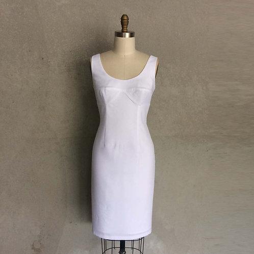 Roberta dress:white