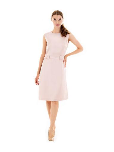 pastels pink sleeveless dress
