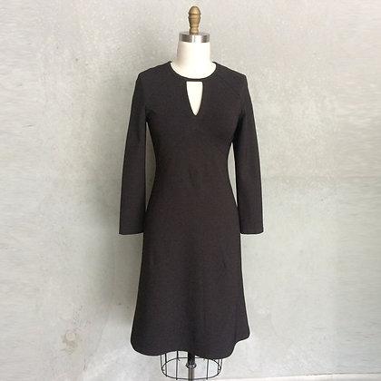 Sandra dress in Charcoal Ponte
