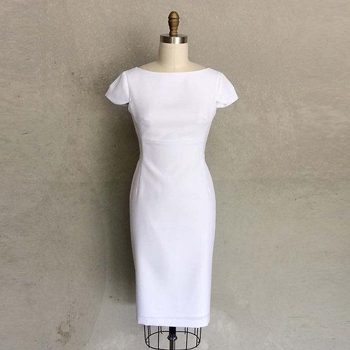 Sarah Dress:white
