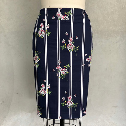 Navy stripe Cambridge skirt
