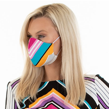 Classic face designer face mask :lollipop strips