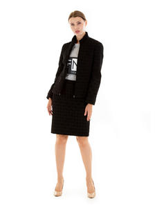 Quilted Ski jacket and cambridge skirt
