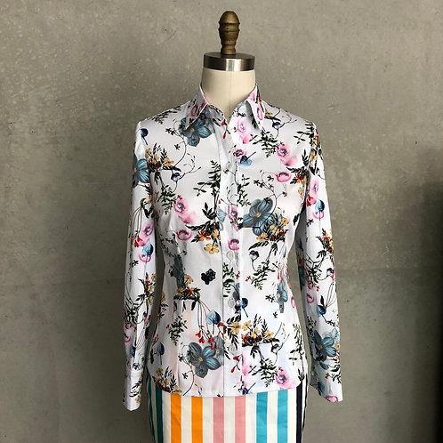 Cufflink shirt: floral bouquet