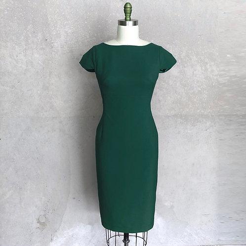 Sarah Dress:emerald green