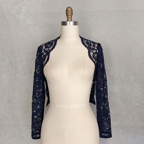 Evening Waisted Lace Bolero