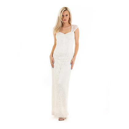 Imogen Ivory Lace Gown