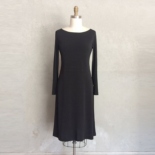 Bettina dress:black with long sleeves