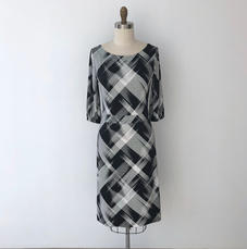 Bettina Dress black abstract