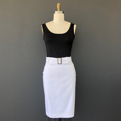 pencil skirt with band, loops and belt:Cassie skirt