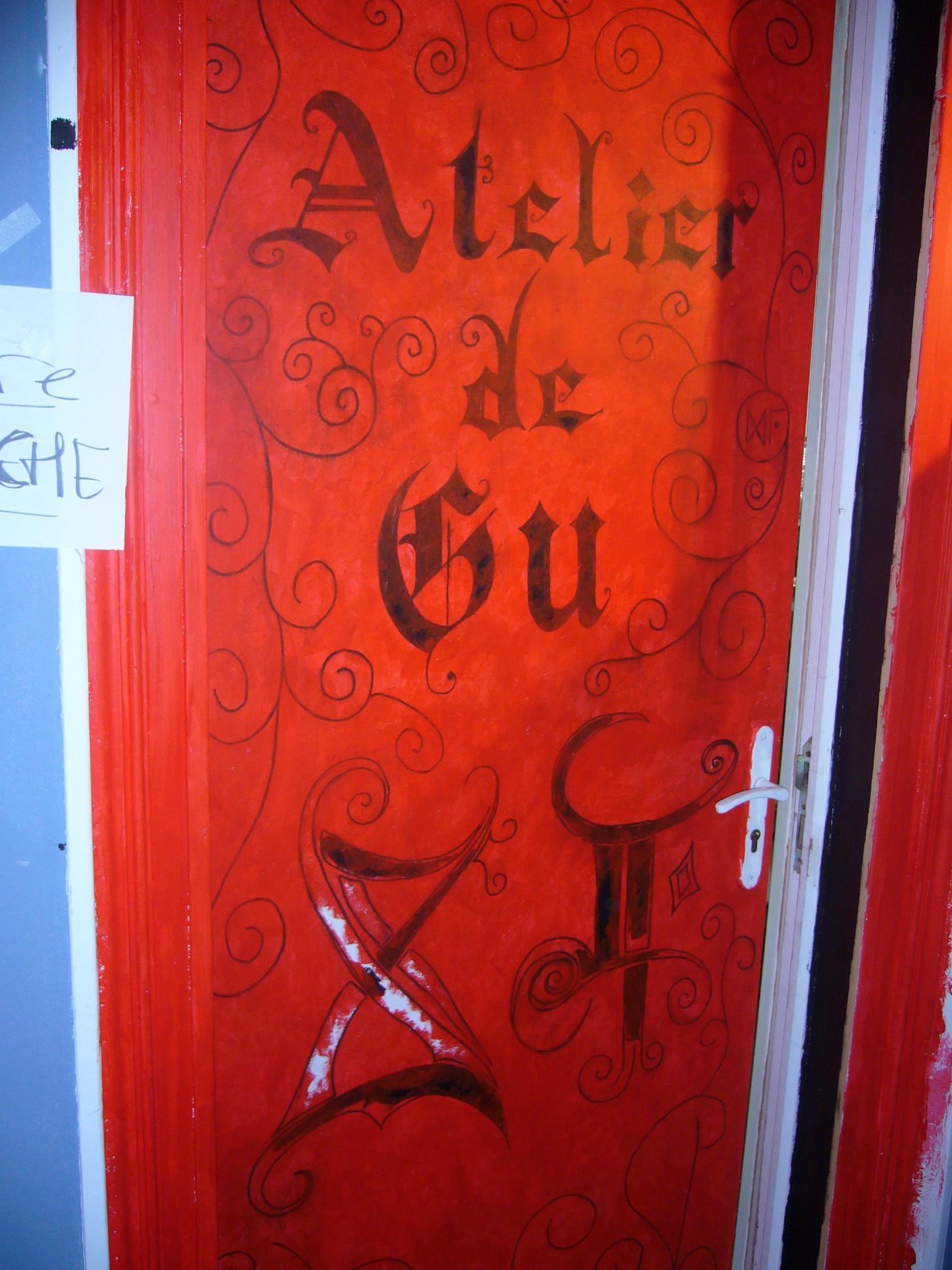 porte de l'atelier