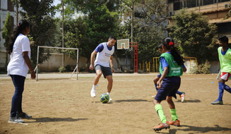 Xavi visits Generation Amazing programme in India
