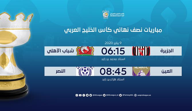 Arabian Gulf Cup semi-final 2019-20
