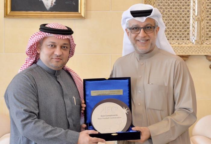 AFC President Shaikh Salman and Saudi FA President