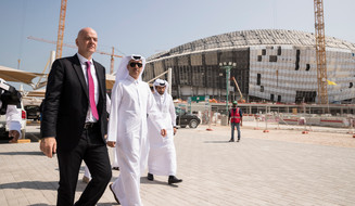 FIFA President praises Qatar 2022 infrastructure progress during whistle-stop tour of country