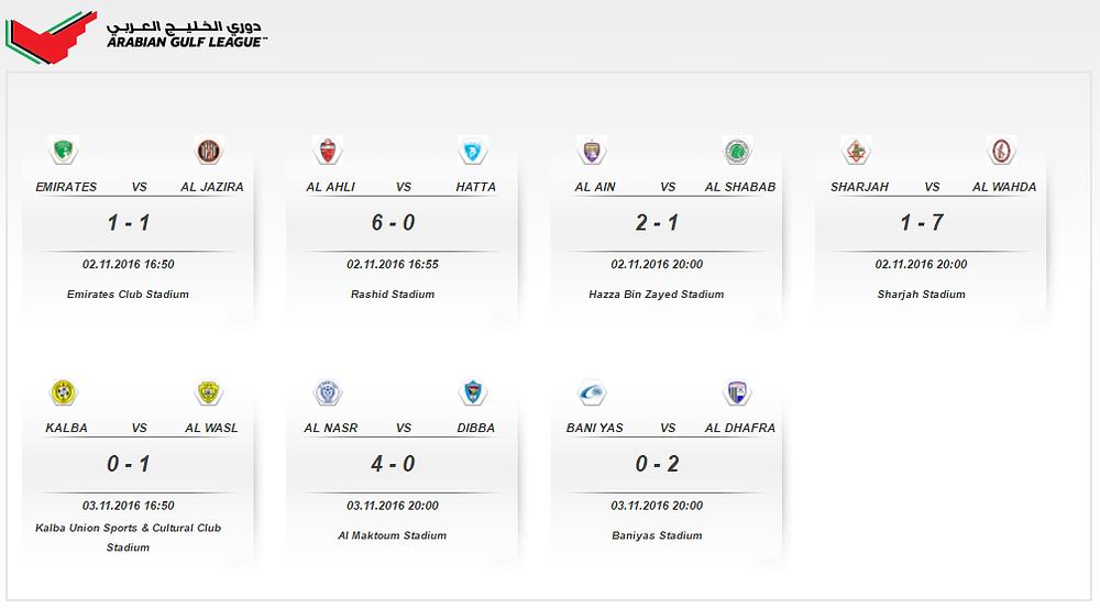 Arabian Gulf League - matches