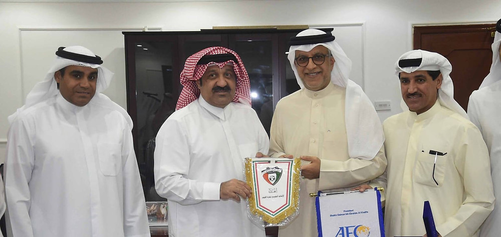 AFC President Shaikh Salman, Kuwait Football Association