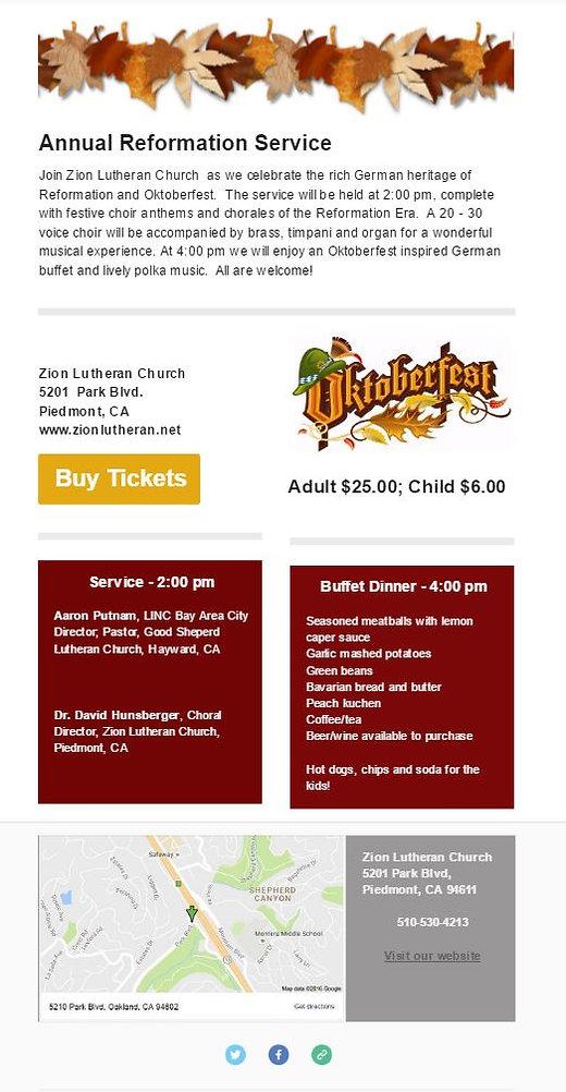 Reformation Octoberfest Information