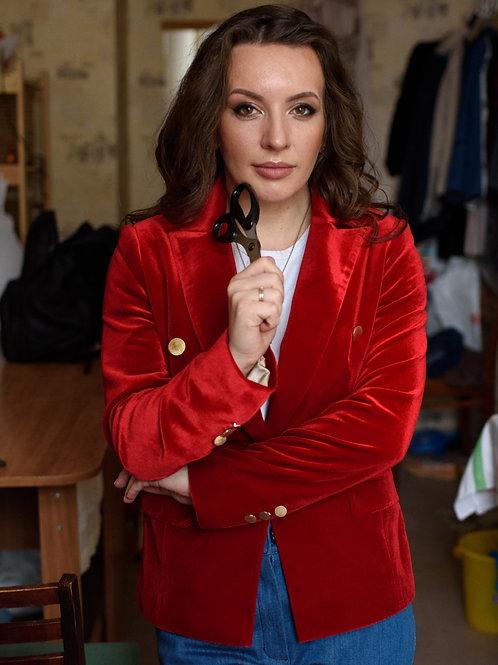 """Women's jacket """"RED VELVET"""""""
