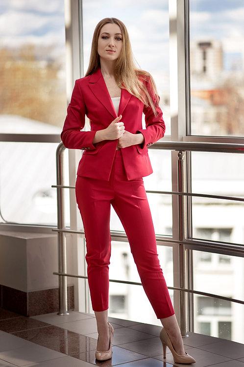 "Женский брючный костюм ""CLASSIC RED"""