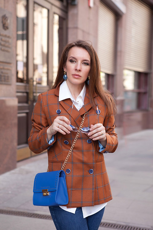 Английский пиджакEASTWOOD с заплатками