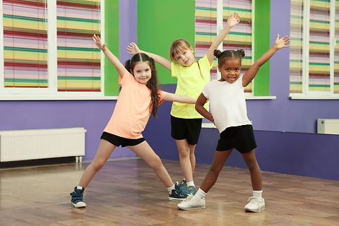 Cute little girls dancing in choreograph