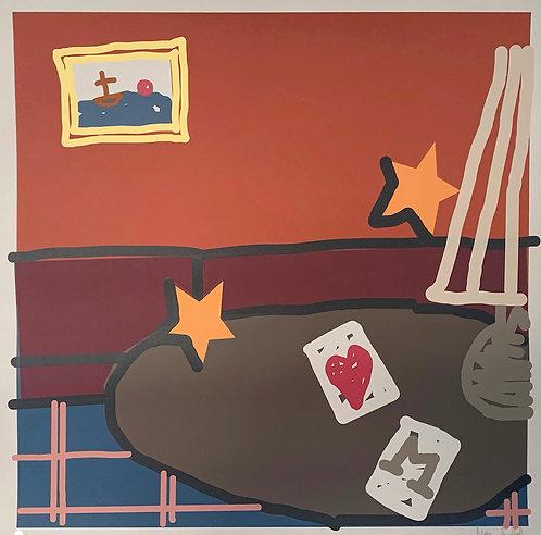Max Rumbol 'Crown And Anchor' screenprint print