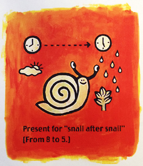 "The present to""Ssnil after snail."""