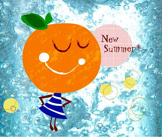 Orange carbonated water