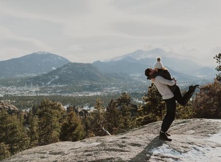 Abby & Brendan // Estes Park Engagement
