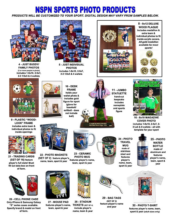 NSPN Sports Photo Products